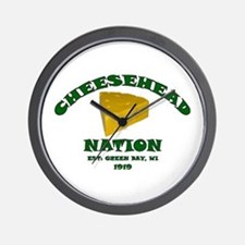 Cheesehead Nation Wall Clock