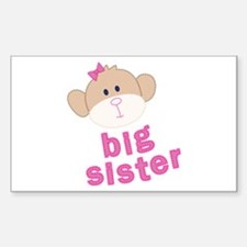 big sister monkey Rectangle Decal
