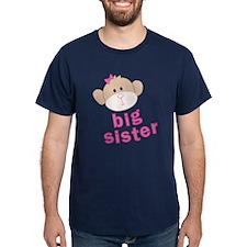 ADULT SIZES big sister monkey T-Shirt