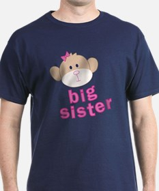 ADULT SIZES big sister monkey T-Shirt