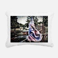 Old Rebel Flag Rectangular Canvas Pillow