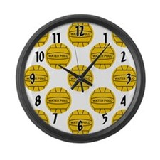 Water Polo Balls Large Wall Clock