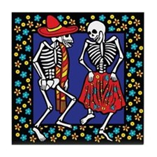 Day Of The Dead Dancers Tile Coaster
