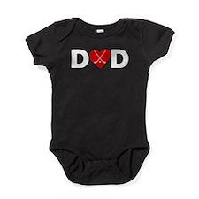 Hockey Heart Dad Baby Bodysuit
