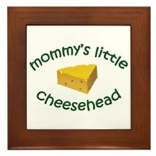 Mommy's Cheesehead Framed Tile