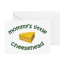 Mommy's Cheesehead Greeting Cards (Pk of 10)