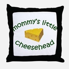 Mommy's Cheesehead Throw Pillow