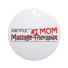 Job Mom Massage Therapist Ornament (Round)