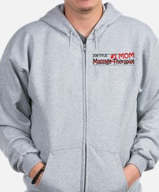 Job Mom Massage Therapist Zip Hoodie