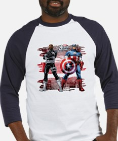 Captain America and Nick Fury Baseball Jersey