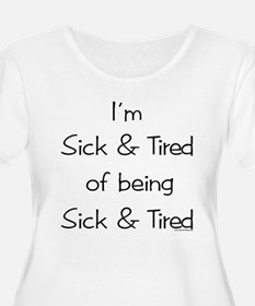 10x10sick_tired2 Plus Size T-Shirt