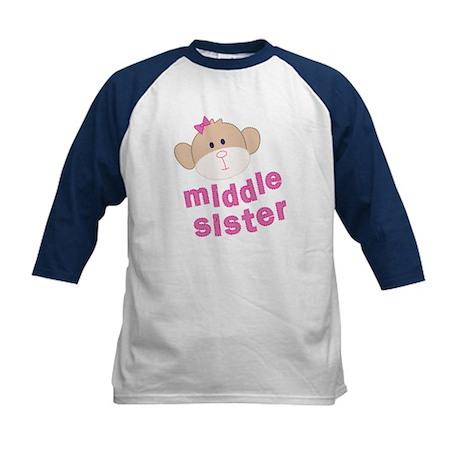 middle sister monkey Kids Baseball Jersey