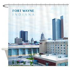 Fort Wayne Skyline Shower Curtain