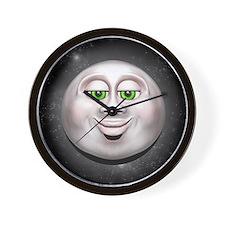 Full Moon Smiling Face 3D Wall Clock
