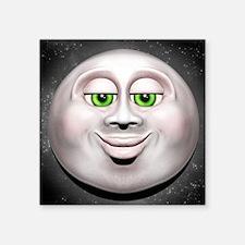 Full Moon Smiling Face 3D Sticker