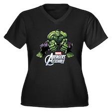 Hulk Fists Women's Plus Size V-Neck Dark T-Shirt