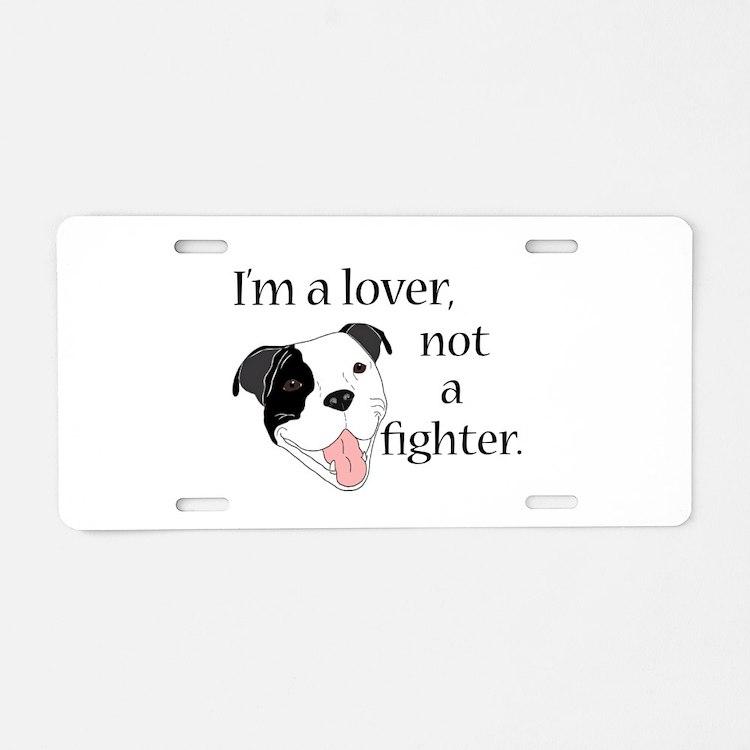 Pitbull Lover Aluminum License Plate