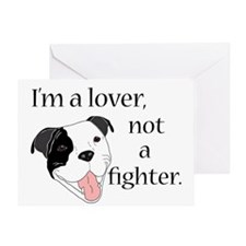 Pitbull Lover Greeting Cards