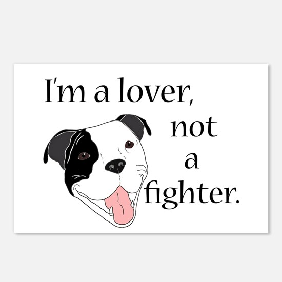 Pitbull Lover Postcards (Package of 8)