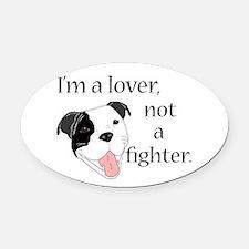 Pitbull Lover Oval Car Magnet