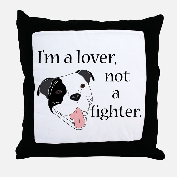 Pitbull Lover Throw Pillow