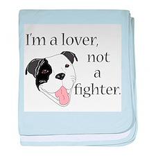 Pitbull Lover baby blanket