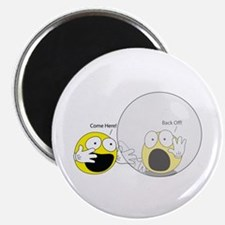 Introvert Hamster Ball Round Magnet