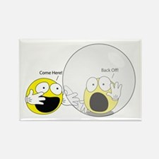 Introvert Hamster Ball Rectangle Magnet 100 Pack