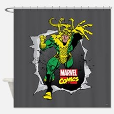 Loki Ripped Shower Curtain
