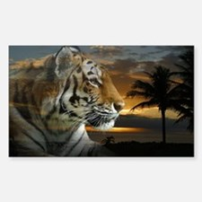 Tiger Sunset Decal