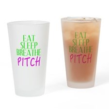 Eat Sleep Breathe Pitch Drinking Glass