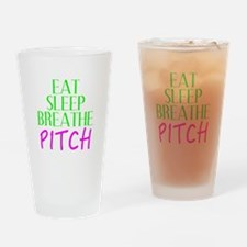 Eat Sleep Breathe Pitch Drinking Glass