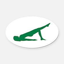 Pilates Oval Car Magnet