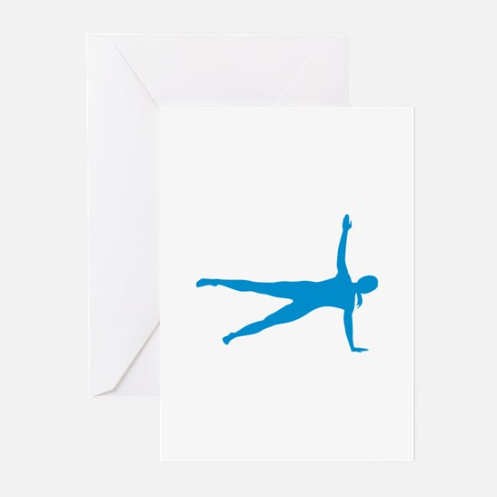Pilates woman Greeting Cards (Pk of 20)