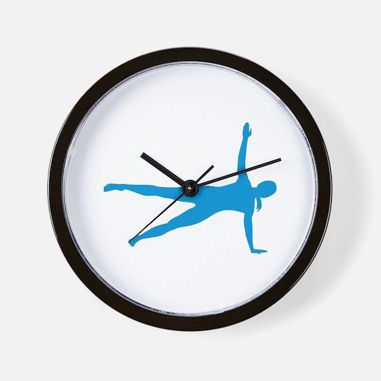 Pilates woman Wall Clock