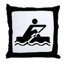 Rowing Throw Pillow
