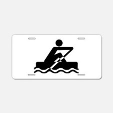 Rowing Aluminum License Plate