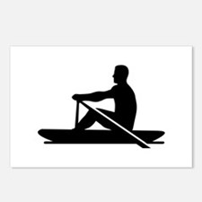 Rowing rower Postcards (Package of 8)
