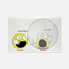 Introvert Hamster Ball Rectangle Magnet