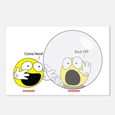 Introvert Hamster Ball Postcards 8 Pack