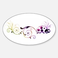 Groovy ladybug with fun tail Decal