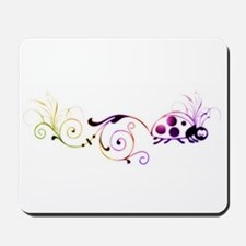 Groovy ladybug with fun tail Mousepad