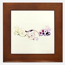 Groovy ladybug with fun tail Framed Tile