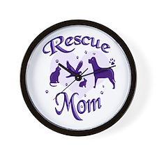 Rescue Mom Wall Clock