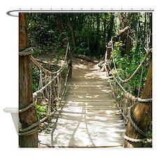 Wooden Walking Bridge Shower Curtain