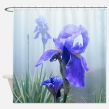 Iris Flower In The Mist Shower Curtain