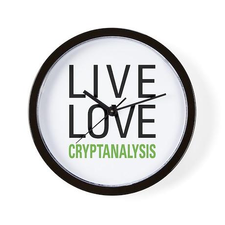 Live Love Cryptanalysis Wall Clock