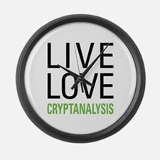 Live Love Cryptanalysis Large Wall Clock