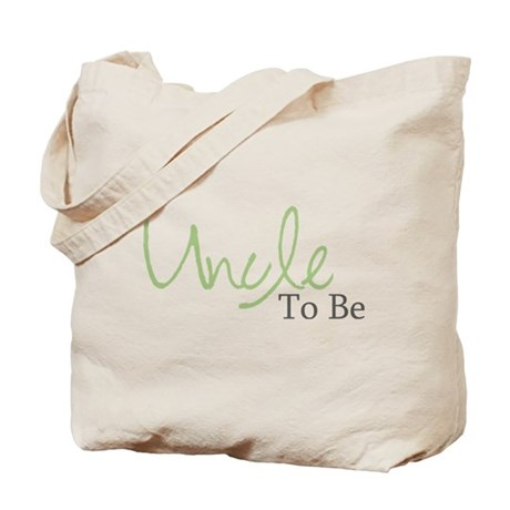 Uncle To Be (Green Script) Tote Bag