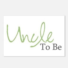 Uncle To Be (Green Script) Postcards (Package of 8